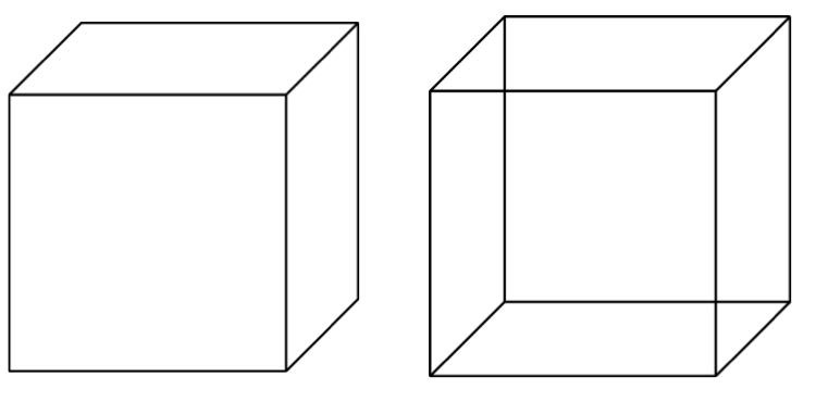 Figure 2 - Cube templates used for drawing tasks