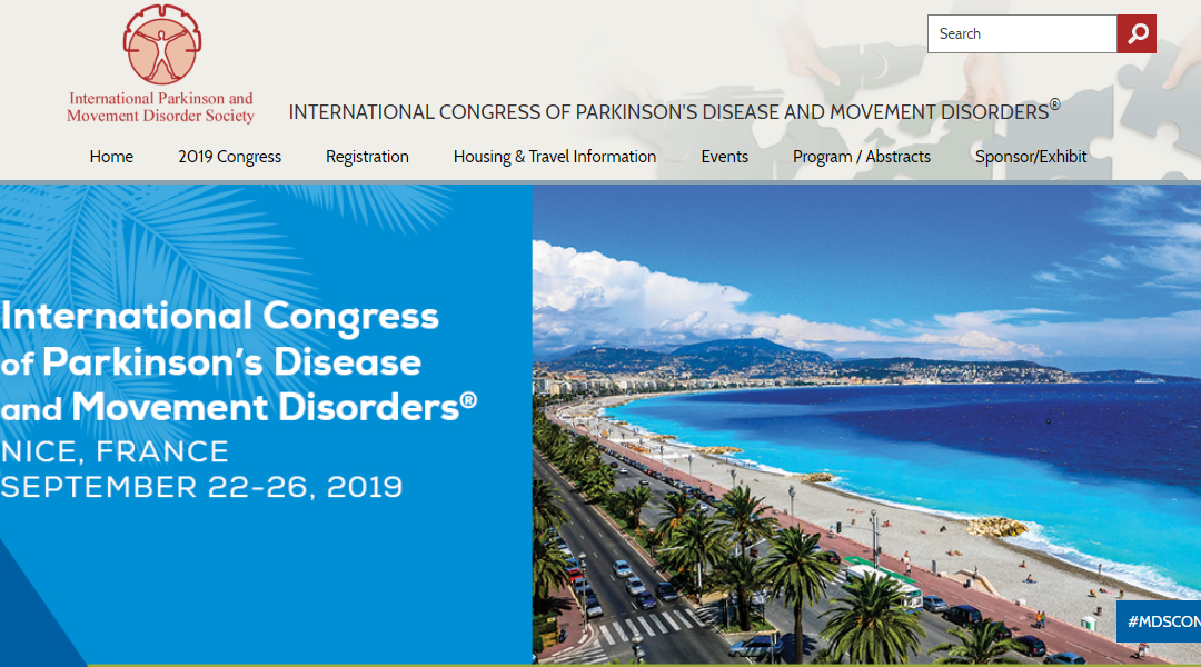 ClearSky heads to Parkinson's Congress in Nice